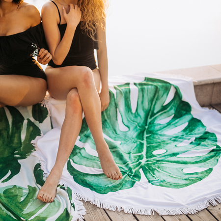 Slika Olala® Okrogla brisača Cleopatra's Leaf