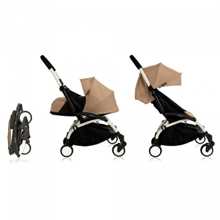 Picture of Babyzen® YOYO+ Baby Stroller 6+ Taupe White Frame