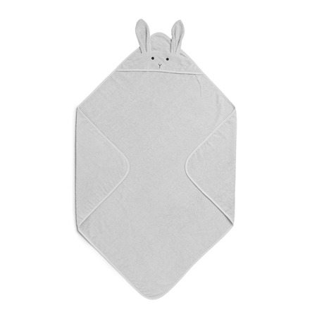 Slika Liewood® Brisača s kapuco Rabbit Grey Junior 100x100