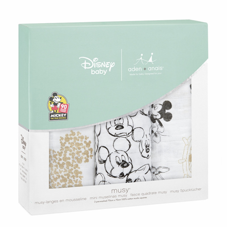 Immagine di Aden+Anais® Set di 3 pannolini tetra Disney Mickey's 90th 70x70