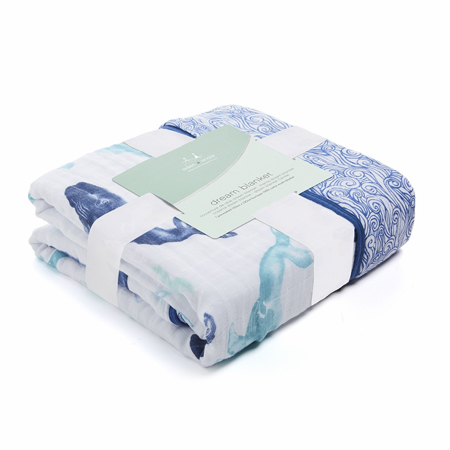 Picture of Aden+Anais® Classic Dream Blanket Seafaring Whales (120x120)