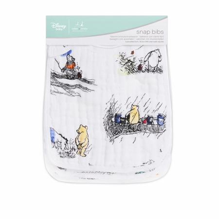 Picture of Aden+Anais Classic Snap Bib 3-Pack - Disney's Winnie The Pooh