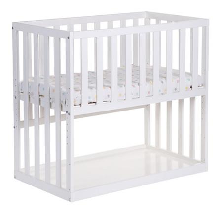 Slika Childhome® Otroška postelja na koleščkih Beech white 50x90