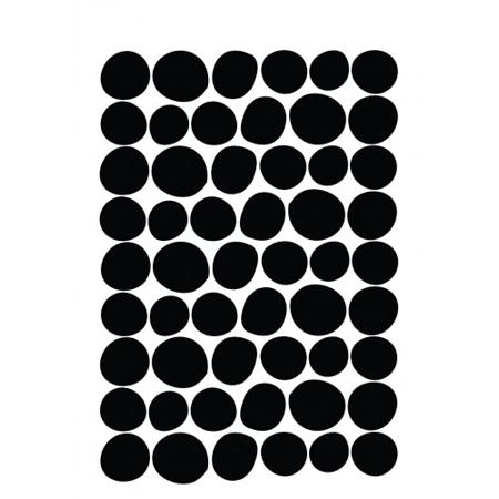 Slika Pick Art Design® Stenske nalepke Krogci nepravilnih oblik