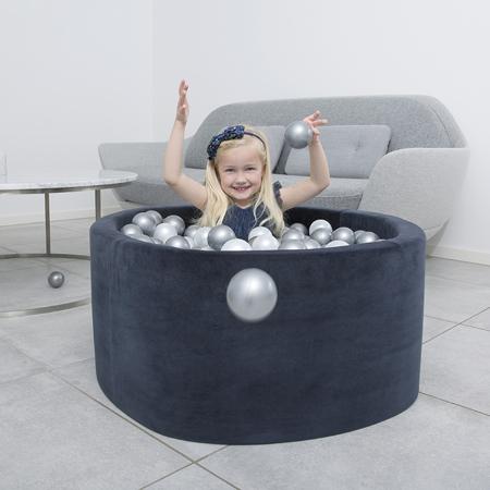 Slika Misioo® Bazen s kroglicami Navy Blue Velvet Collection
