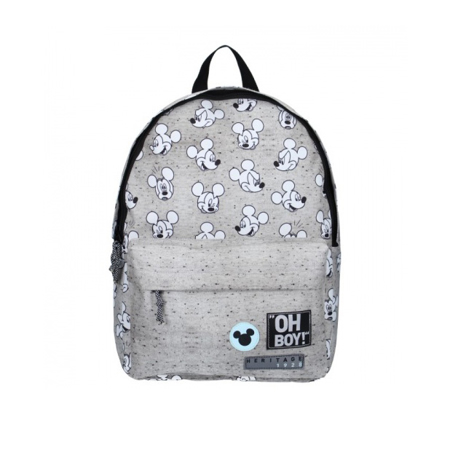 Picture of Disney's Fashion® Round Backpack Mickey Mouse Go For It! - Grey