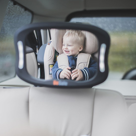 BeSafe® Ogledalo za Avto Sedež z LED svetili