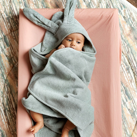 Picture of Elodie Details® Hooded Towel Mineral Green (80x80)