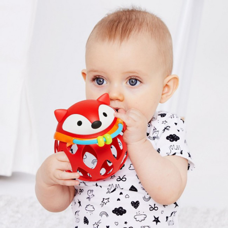 Picture of Skip Hop® Explore&More Roll-Around Rattles Fox