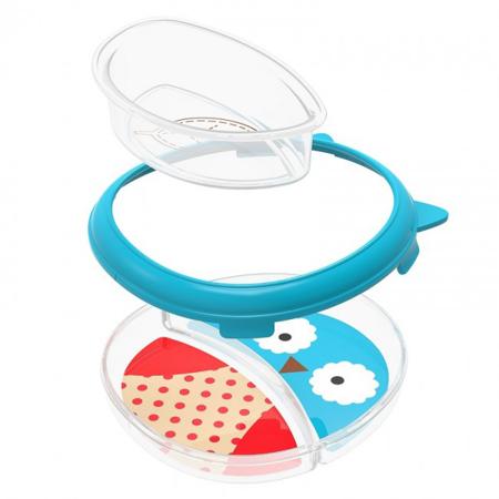 Slika Skip Hop® Otroški multifunkcijski krožnik Sovica