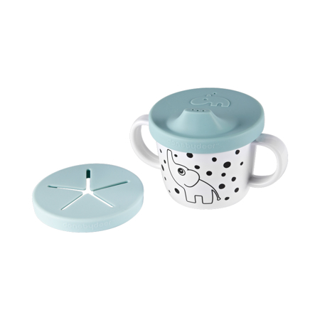 Done by Deer® Prvi jedilni set Happy Dots Blue