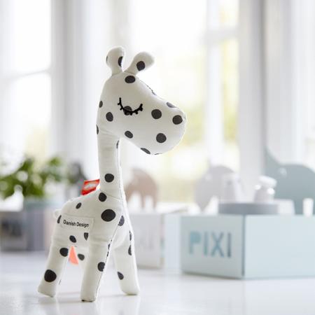 Done by Deer® Aktivnostna ropotuljica žirafa Raffi Black Dots