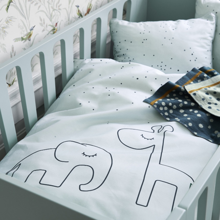 Done by Deer® Posteljnina Dreamy Dots Baby White 70x100