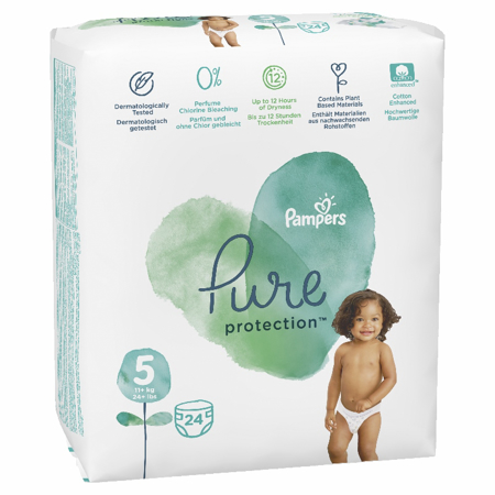 Pampers® Pleničke Pampers Pure Protection vel. 5 (11+ kg) 24 kosov