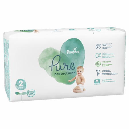 Slika Pampers® Pleničke Pampers Pure Protection vel. 2 (4-8 kg) 39 kosov