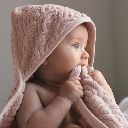 Immagine di CamCam® Asciugamano con cappuccio Blossom Pink 80x80