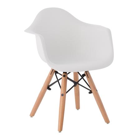 Slika EM Furniture Eiffel Otroški stolček Arm White