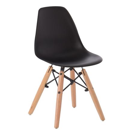 Slika EM Furniture Eiffel Otroški stolček Black
