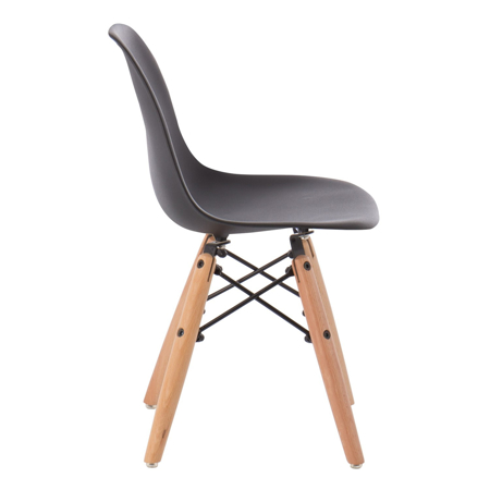 EM Furniture Eiffel Otroški stolček Black