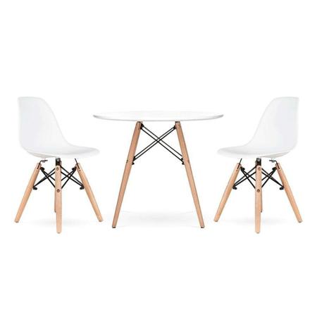 Slika EM Furniture Set mizice in dveh stolčkov White