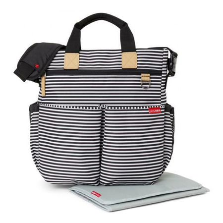 Immagine di Skip Hop® Borsa fasciatoio Duo Signature Black and White stripe