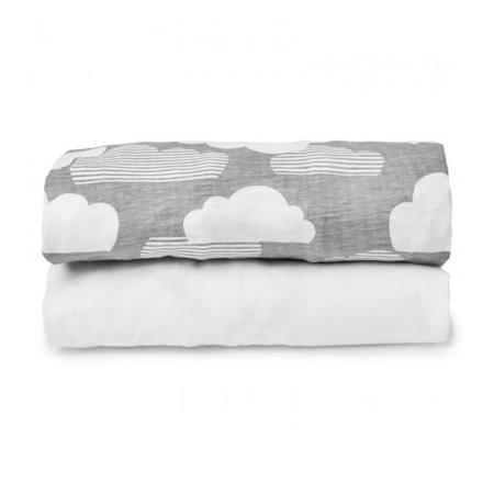 Slika Skip Hop®  Set univerzalnih prevlek za prenosno posteljico Clouds White