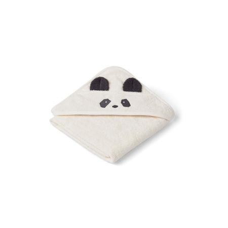Liewood® Brisača s kapuco Panda Creme de la Creme Baby 70x70