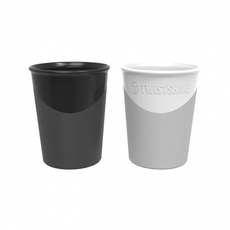 Twistshake® 2x Kozarček Black&White 170ml (6+m)