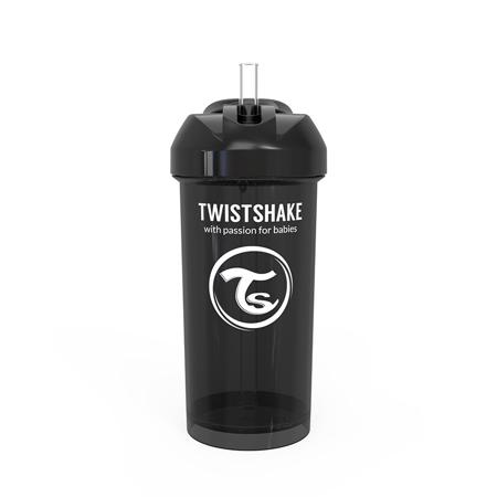 Slika Twistshake® Lonček s slamico 360ml (12+m) - Black