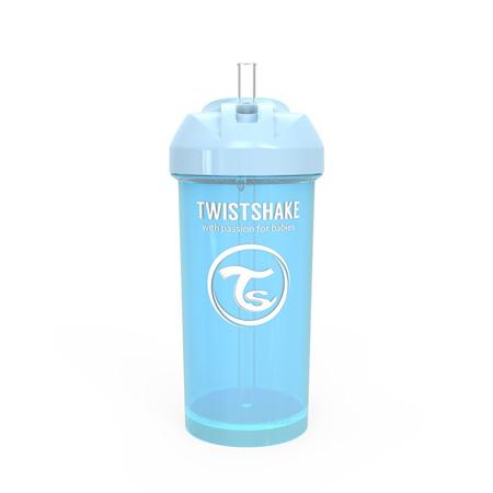 Slika Twistshake® Lonček s slamico 360ml (12+m) - Pastel Blue