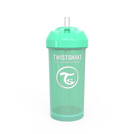 Twistshake® Lonček s slamico 360ml (12+m) - Pastel Green