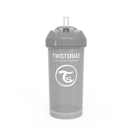 Slika Twistshake® Lonček s slamico 360ml (12+m) - Pastel Grey