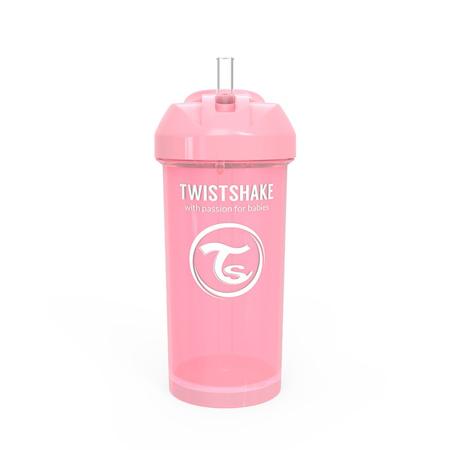 Slika Twistshake® Lonček s slamico 360ml (12+m) - Pastel Pink