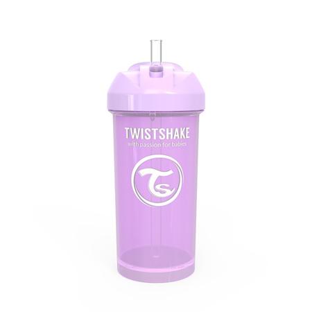 Twistshake® Lonček s slamico 360ml (12+m) - Pastel Purple