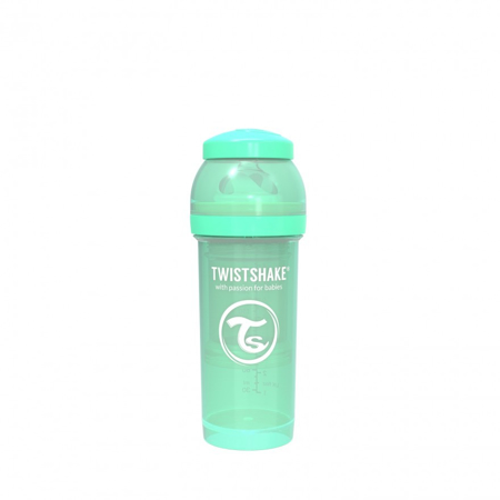 Picture of Twistshake Anti-Colic Bottle 260ml (2+M) - Pastel Green