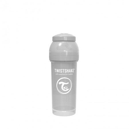 Picture of Twistshake Anti-Colic Bottle 260ml (2+M) - Pastel Grey