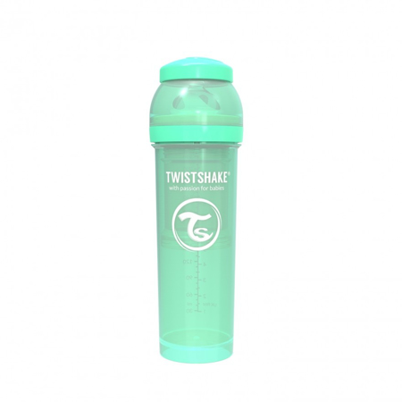 Picture of Twistshake Anti-Colic Bottle 330ml (4+M) - Pastel Green