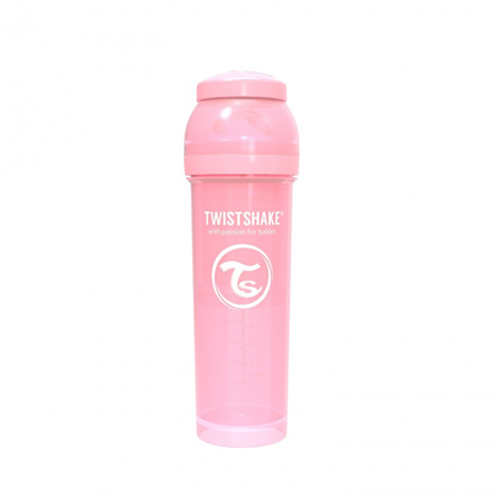 Picture of Twistshake Anti-Colic Bottle 330ml (4+M) - Pastel Pink