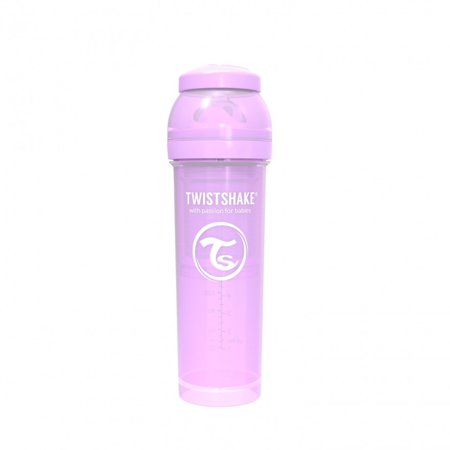 Picture of Twistshake Anti-Colic Bottle 330ml (4+M) - Pastel Purple
