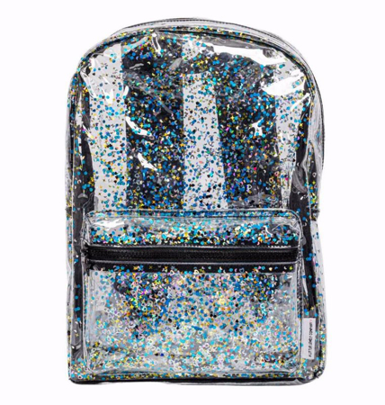 Slika A Little Lovely Company® Nahrbtnik Glitter transparent/black