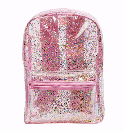 Slika A Little Lovely Company® Nahrbtnik Glitter transparent/pink