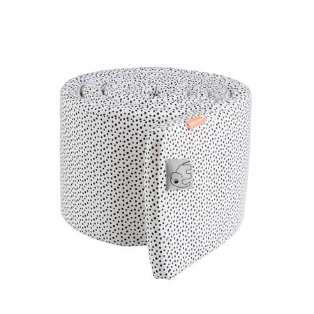 Done by Deer® Obroba za otroško posteljico Happy Dots 350 cm - Bela