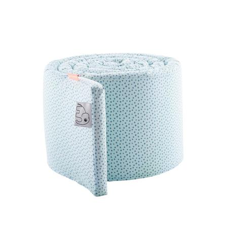 Done by Deer® Obroba za otroško posteljico Happy Dots 350 cm - Svetlo Modra