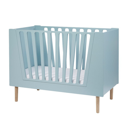 Slika Done by Deer® Otroška posteljica 120x60 - Svetlo Modra