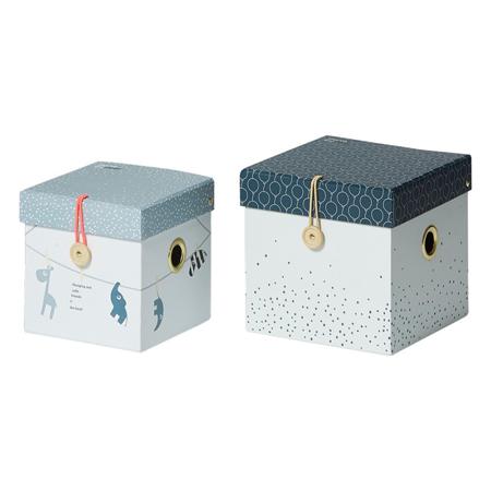 Done by Deer® Set 2 škatlic za shranjevanje - Blue