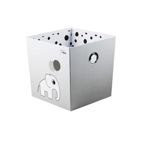 Done by Deer® Škatla za shranjevanje Happy Dots - Siva