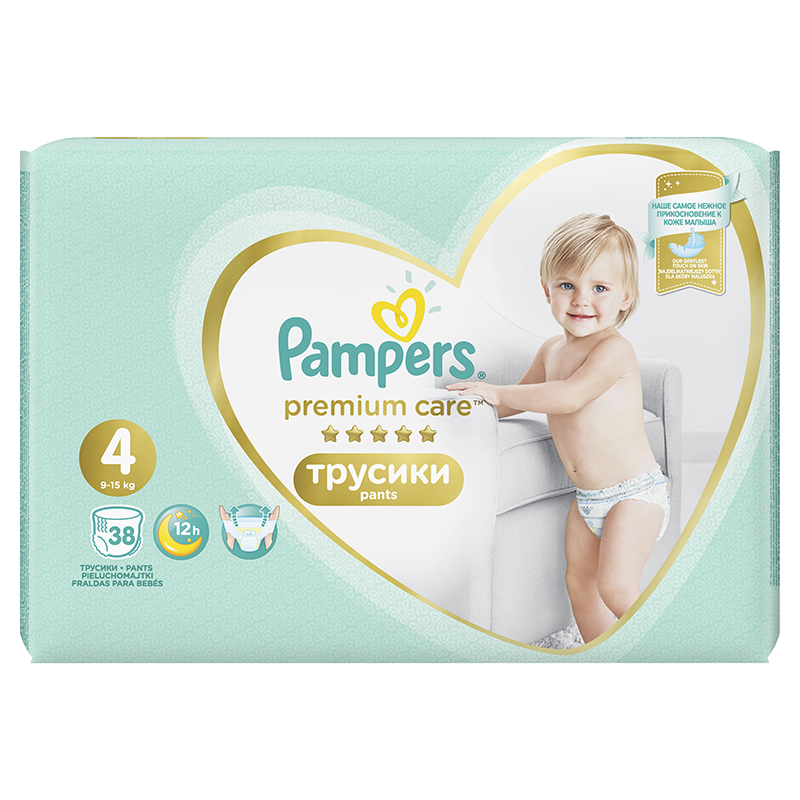 Picture of Pampers® Pants Diapers Premium Care Size 4 (8-14 kg ) 38 Pcs.