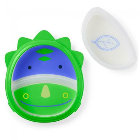 Slika Skip Hop® Otroški multifunkcijski krožnik Dinozaver