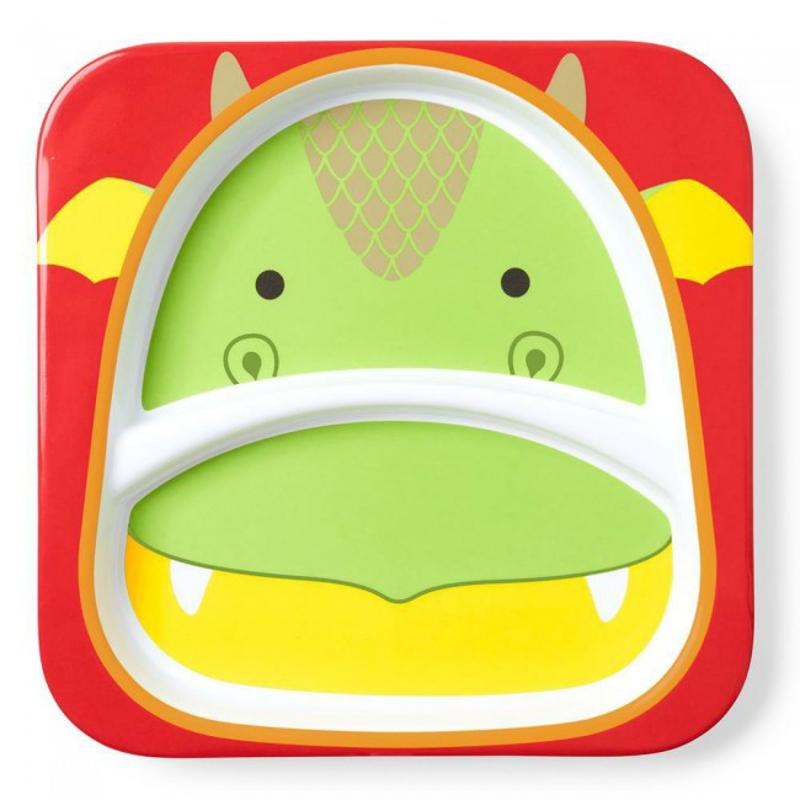 Skip Hop® Otroški deljeni krožnik Zmaj