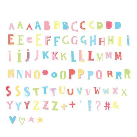 A Little Lovely Company® Lightbox različni seti črk - Funky colour